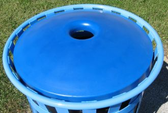 """Mushroom Trash Receptacle Replacement Top with 4"""" Opening"""