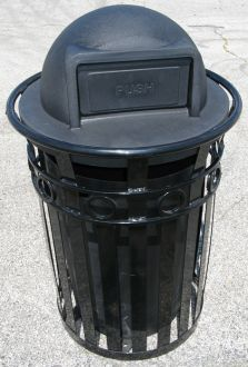 36-Gallon Ornamental Trash Receptacle with Dome Top