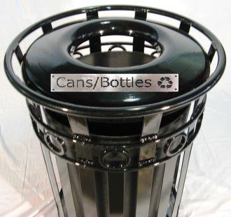 36-Gallon Round Ornamental Recycle Bin