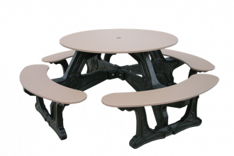 4 Seat Round Picnic Table