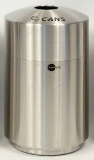 39-Gallon Stainless Steel Top Load Cans Recycle Bin