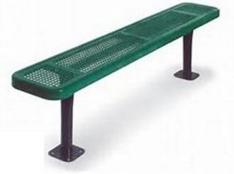 """8 Foot Heavy Duty Park Bench With 12"""" Seat Plank and Without Back"""