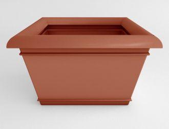 "Self-Watering Catalina Rectangular Planter Solid Colors 40"" x 30"""