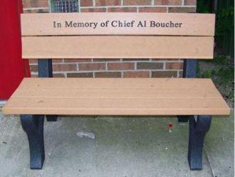 4 foot Econo Mizer Traditional Memorial Plastic Park Bench