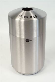 20-Gallon Stainless Steel Top Load Glass Recycle Bin
