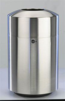 20-Gallon Stainless Steel Trash Receptacle