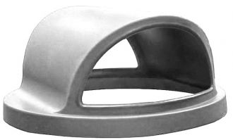 Trash Receptacle Replacement Dual Opening Dome Top