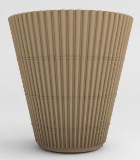 """Self-Watering Bamboo Planter 23"""" Granite Colors"""