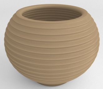 """Grooved Planter Solid Color 22"""""""
