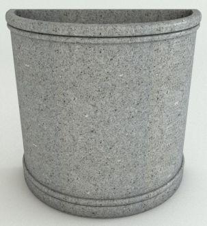 Half Round Planters Granite Colors
