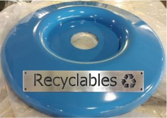 Large Steel Replacement Recycle Top