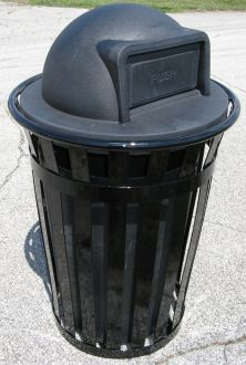 36-Gallon Main Street Trash Receptacle with Dome Top