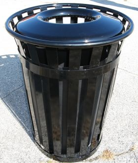 36-Gallon Main Street Trash Receptacle with Flat Top