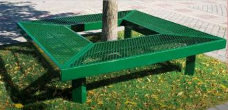 Around a tree bench 8 foot square backless Thermoplastic Coated Seats