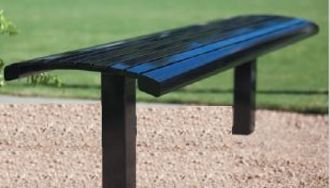 6 Foot Richmond 82 Series Horizontal Slat Steel Backless Bench  without Arm Rests