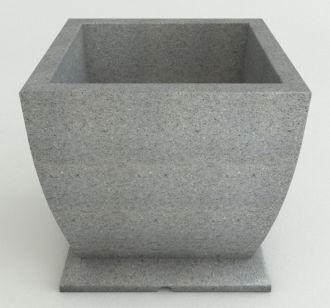 Self-Watering Square Pedestal Planter Granite Colors