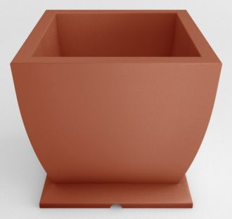 Square Self-Watering Pedestal Planters Solid Colors