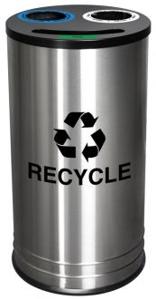 NYC Business Recycling Smiley 14 Gallon Recycling Receptacle