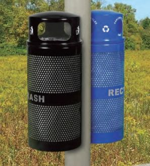 34-Gallon Trash and Recycling Receptacle