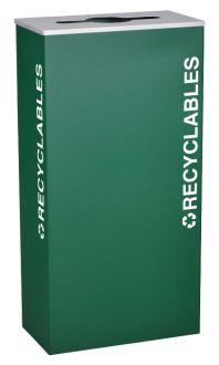 17-Gallon Modular Rectangular Recycle Bin, Recyclables