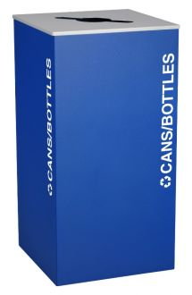 36-Gallon Modular Square Recycle Bin, Cans and Bottles