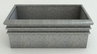 "Rectangular Planters Granite Colors 19.5"" thru 38"""