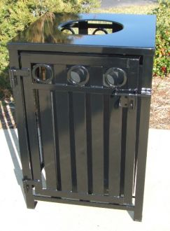 36-Gallon Square Recycling Receptacle