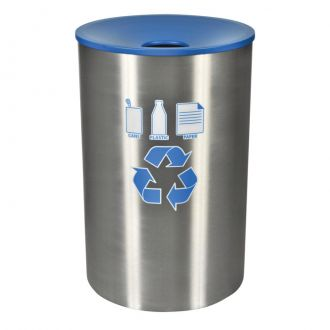 45-Gallon Stainless Steel Recycling Receptacle
