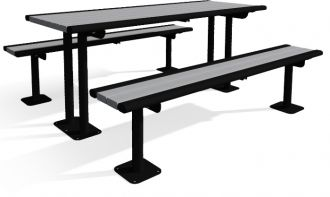 6' Richmond Picnic Table, Permanent Mount or Portable Table with Recycled Plastic Slats