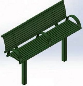 6 Foot Richmond 81 Series Steel Horizontal Bench with Back and Arm Rests