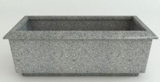 """Roma Rectangular Granite Planters Without Garland 49.25"""" Long"""