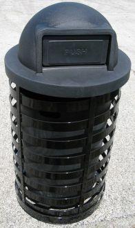 36-Gallon Spiral Trash Receptacle, Dome Top