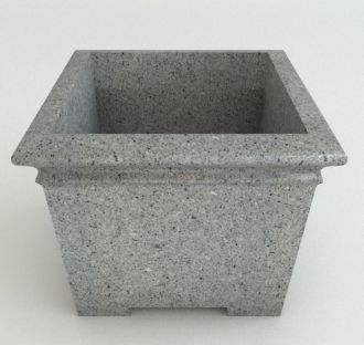"""Square Footed Planters Granite Colors 17"""" thru 29"""""""