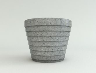 "32"" Granite Color Step Planters"