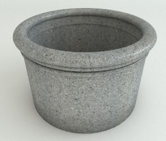 """Straight Sided Cylinder Planters Granite Colors 18"""" thru 33"""""""