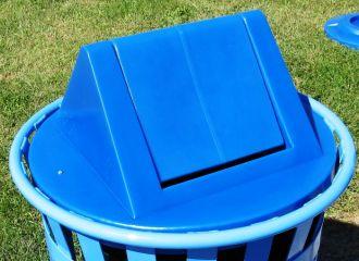 Trash Receptacle Replacement Top with Swing Door