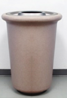 """Contemporary Ash  & Trash Receptacle Solid Colors, 23"""" Tall"""