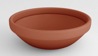 """Self-Watering Low Bowl Planters Solid Colors 24"""" thru 43"""""""