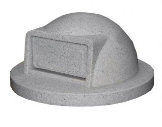 Trash Receptacle Replacement Dome Top with Door