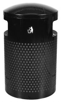 40-Gallon Perforated Trash Receptacle