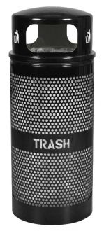 34-Gallon Dome Top Perforated Trash Receptacle