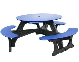 Bodega Recycled Plastic Round Picnic Table