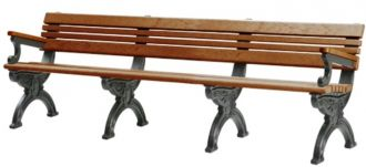 8 Foot Cambridge Park Bench with Arm Rest