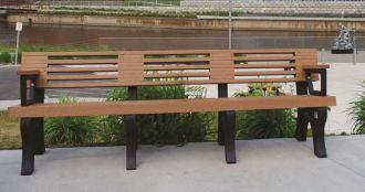 8 Foot Elite Park Bench with Arm Rest