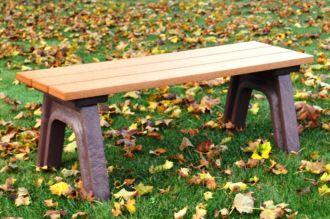 4 Foot Econo Mizer Traditional Plastic Flat Bench