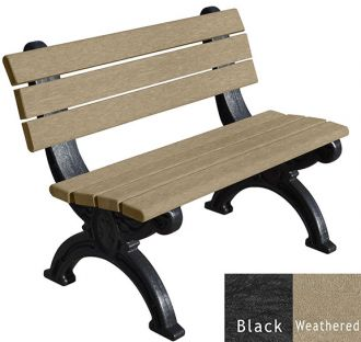 4 Foot Silhouette Park Bench