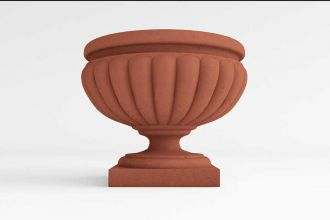Cabana Pedestal Self Watering Planter in solid colors