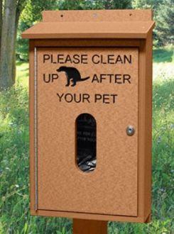 Pet Waste Bag Dispenser with Post