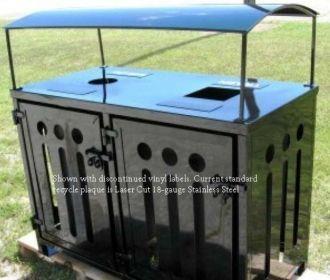 50-Gallon Dual Recycling Bin