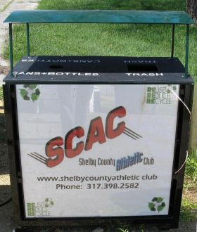 Advertising Trash and Recycle Bin